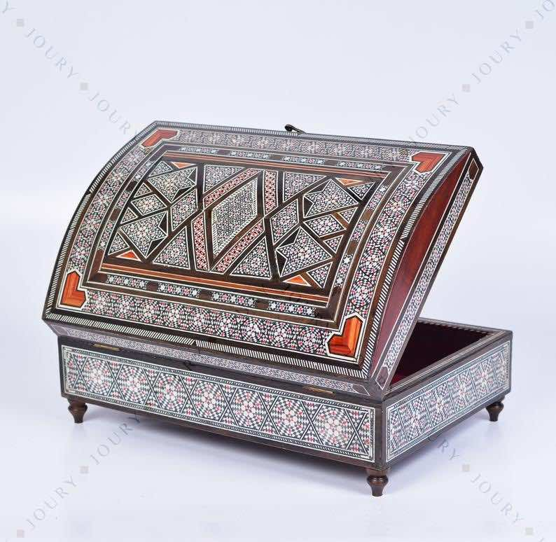 Handcrafted Wooden Mosaic Jewelry Box