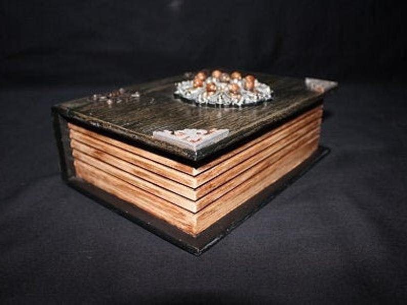 Book Design Wooden Jewelry Box