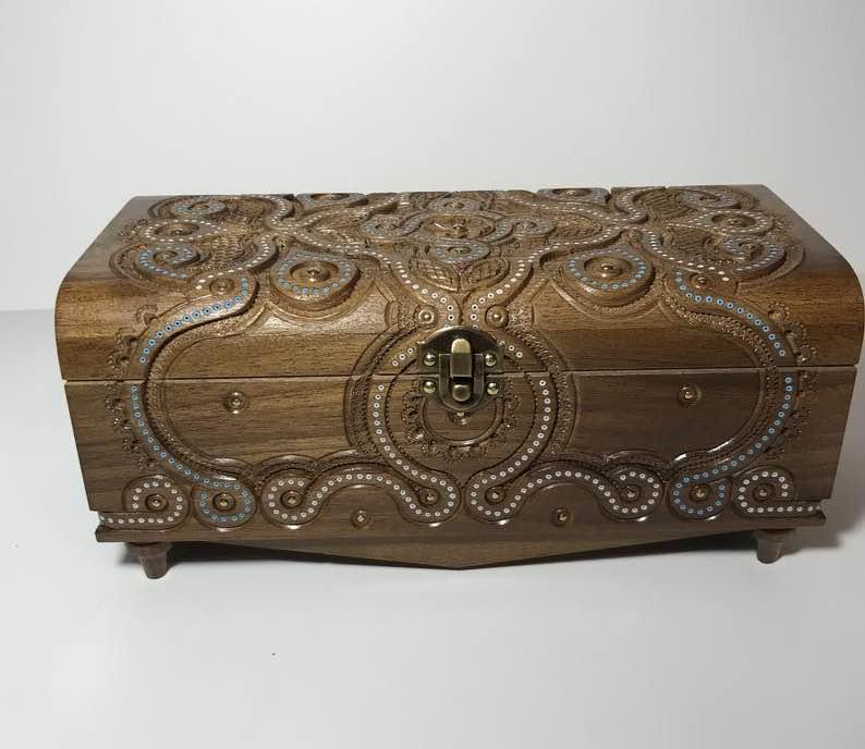 Linden Wood Wooden Jewelry Case